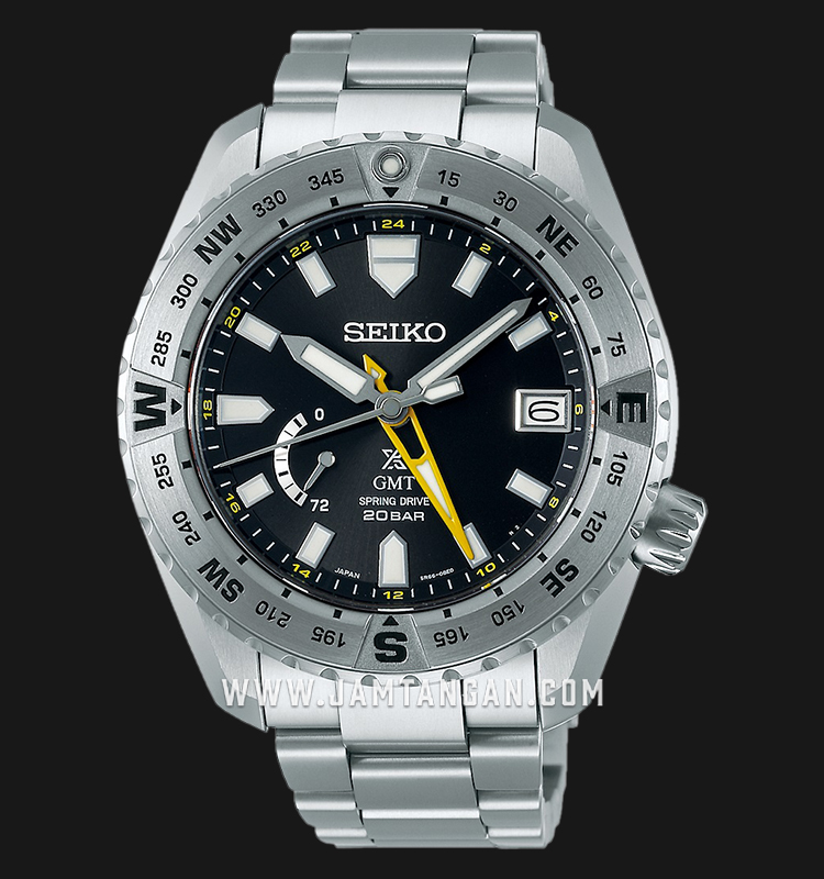 Seiko Prospex SNR025J1 GMT Baselworld 2019 Black Dial 200M Water Resistance Titanium Strap Machtwatch