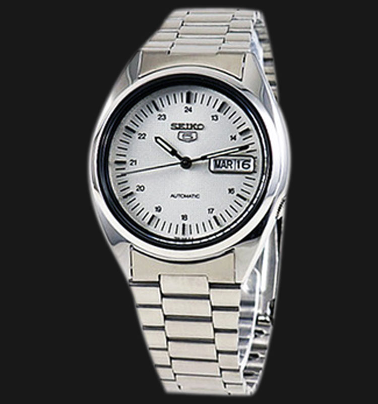Seiko 5 SNXF09K1 Automatic White Dial Stainless Steel Machtwatch