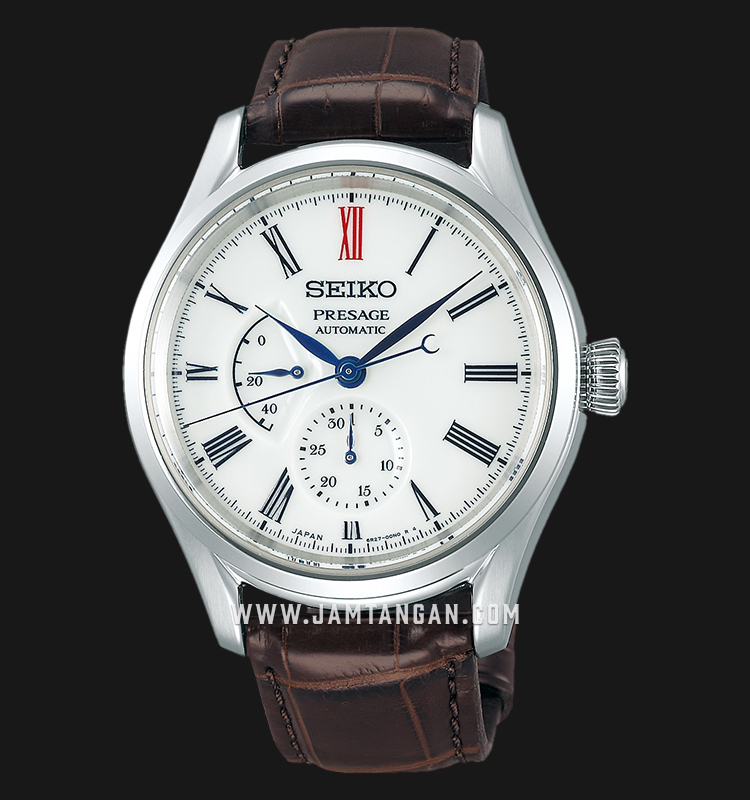 Seiko Presage SPB093J1 Arita Porcelain Baselworld 2019 Automatic White Dial Brown Leather Strap Machtwatch