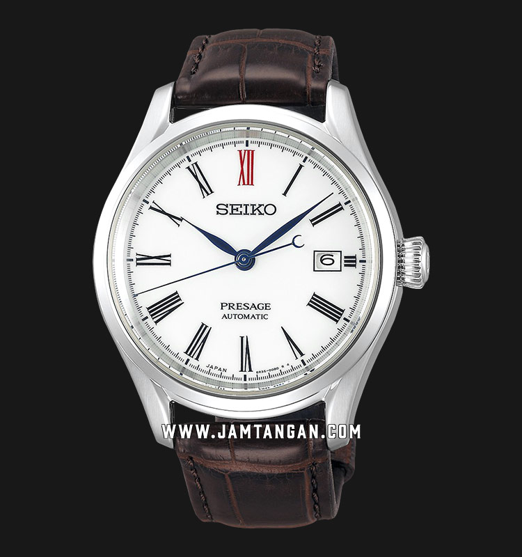 Seiko Presage SPB095J1 Arita Porcelain Baselworld 2019 Automatic White Dial Brown Leather Strap Machtwatch