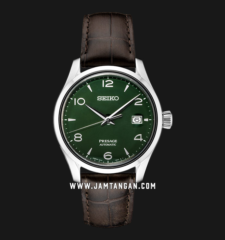 Seiko Presage SPB111J1 Automatic Green Enamel Dial Brown Leather Strap Limited Edition Machtwatch