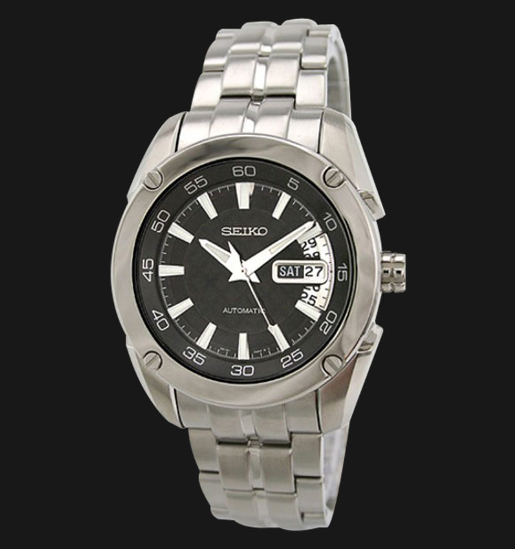 Seiko Automatic SRP003 Black Dial Stainless Steel Bracelet Machtwatch