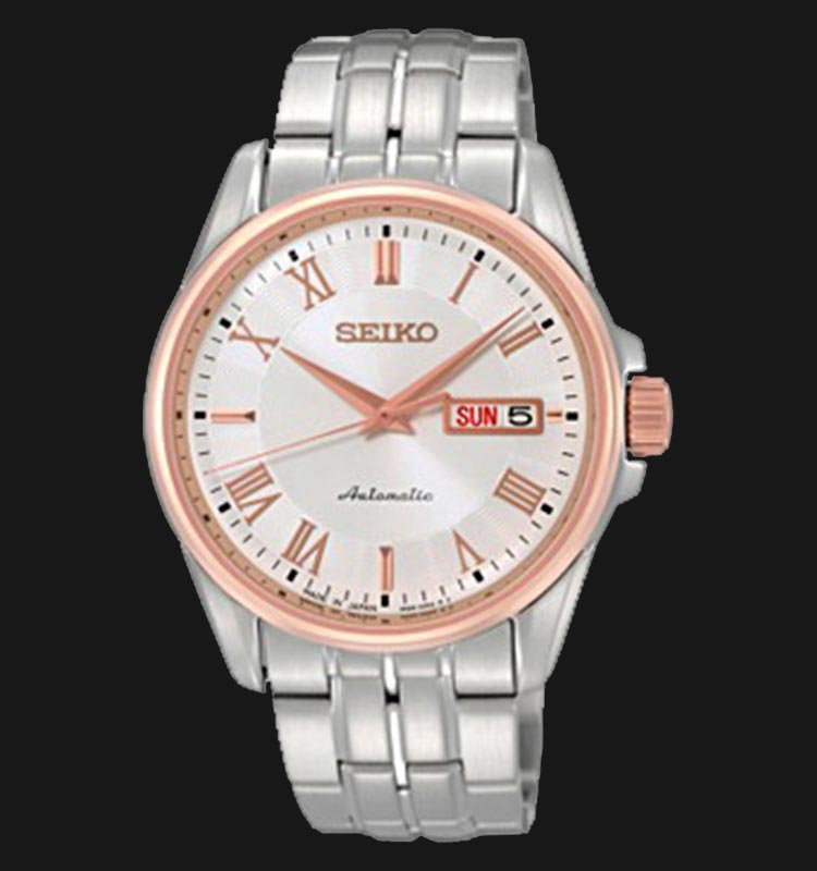 Seiko SRP186J1 Automatic Presage Stainless Steel Silver Dial Machtwatch