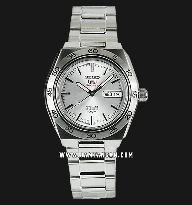 Seiko 5 SRP239K1 Sports Automatic Silver Dial Stainless Steel Strap Machtwatch