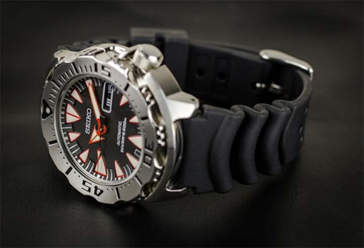 Seiko SRP313K1 Black Monster Automatic Diver 200M Machtwatch