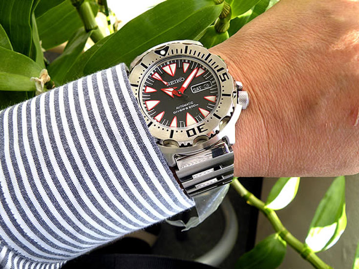 Seiko SRP313K2 Black Monster Automatic Diver 200M Machtwatch