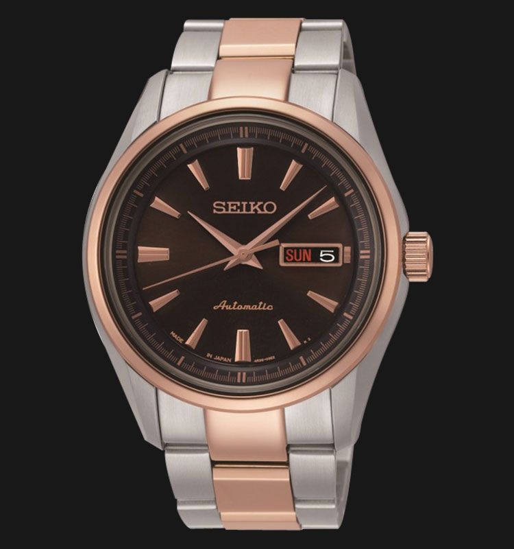 Seiko Presage SRP536J1 Men Automatic Sapphire Crystal Stainless Steel Machtwatch