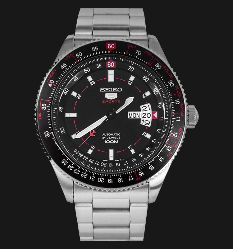 Seiko 5 Sports SRP613K1 Automatic Pilot Stainless Steel Machtwatch