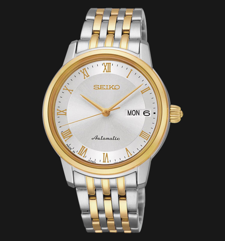 Seiko SRP884J1 Presage Ladies Automatic Sapphire Crystal Two Tone Gold Machtwatch