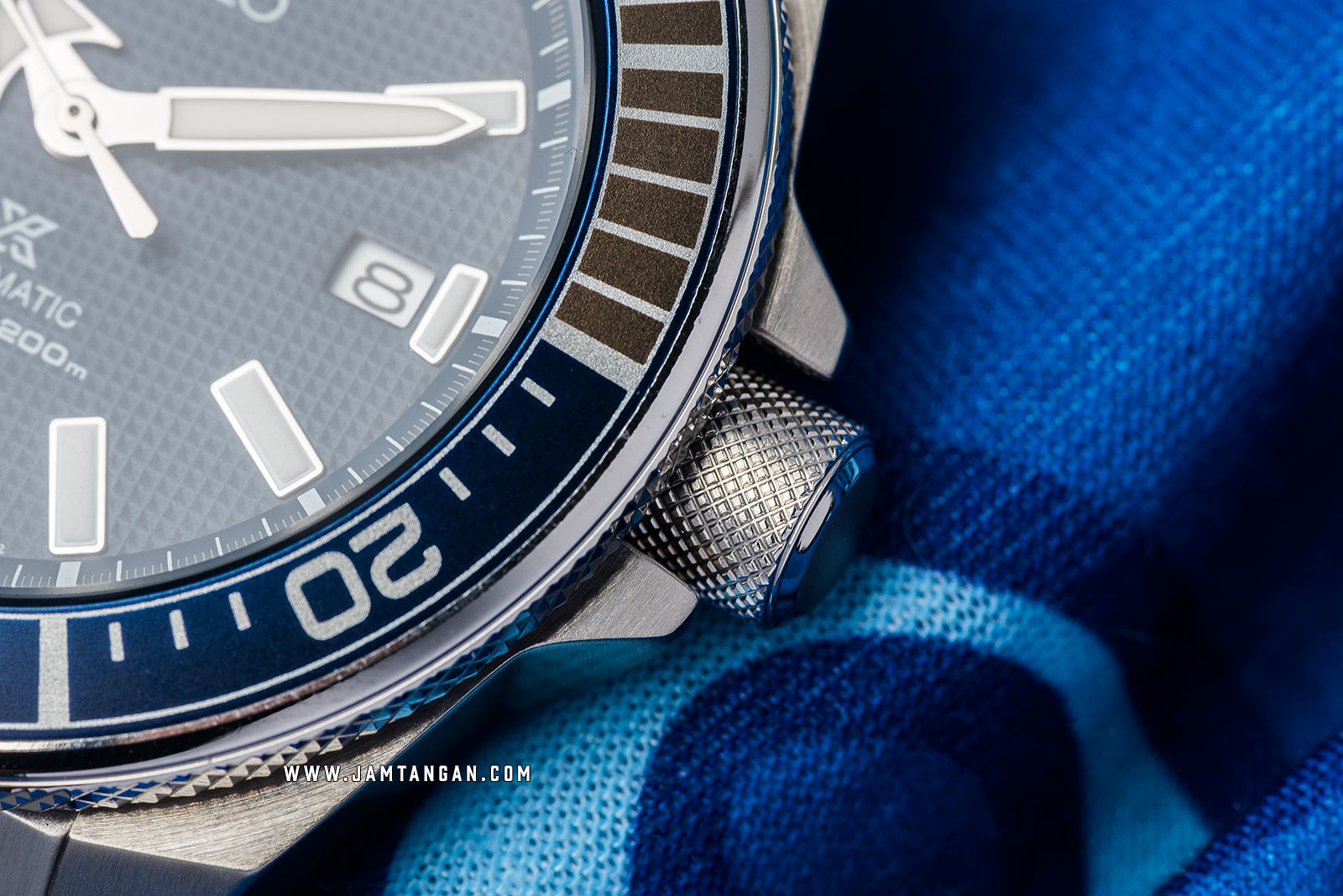 Seiko Prospex Samurai SRPB49K1 Automatic Divers Blue Texture Dial Stainless Steel Strap Machtwatch
