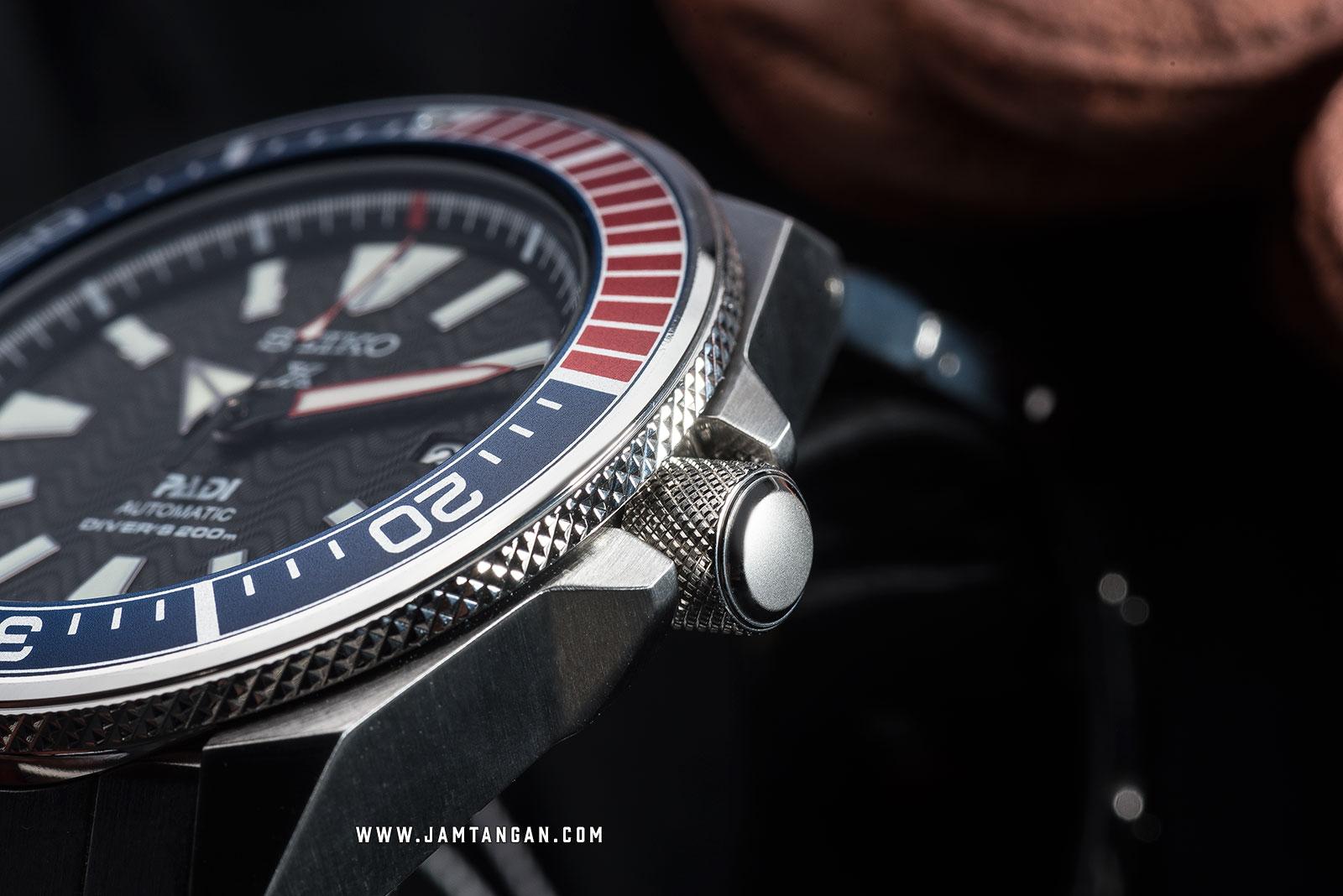 Seiko Prospex SRPB99K1 Samurai PADI Black Pattern Dial Stainless Steel Strap Special Edition Machtwatch