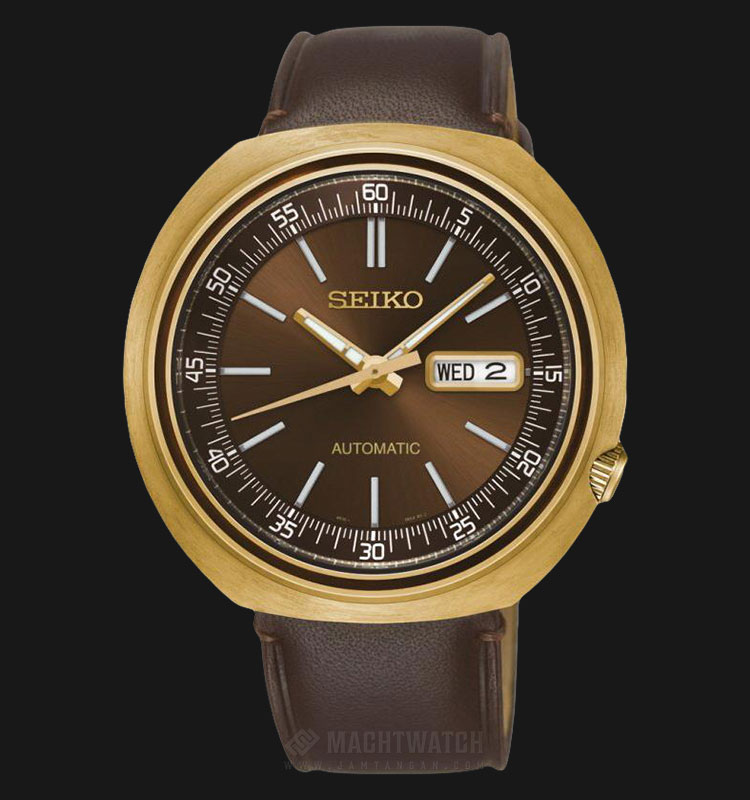 Seiko Recraft SRPC16K1 Automatic Brown Dial Brown Leather Strap Machtwatch