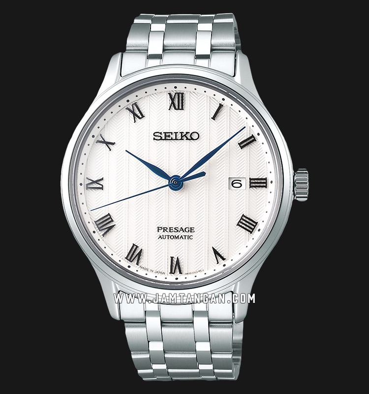 Seiko SRPC79J1 Presage Classic Automatic White Pattern Dial Stainless Steel Machtwatch
