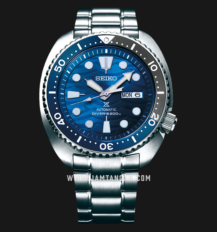 Seiko Prospex SRPD21K1 Turtle Save The Ocean Baselworld 2019 Auto Divers 200M Stainless Steel Strap Machtwatch
