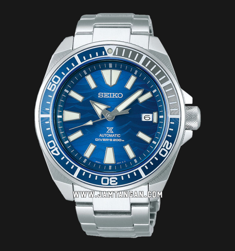 Seiko Prospex SRPD23K1 Samurai Save The Ocean Baselworld 2019 Auto Divers 200M Stainless Steel Strap Machtwatch