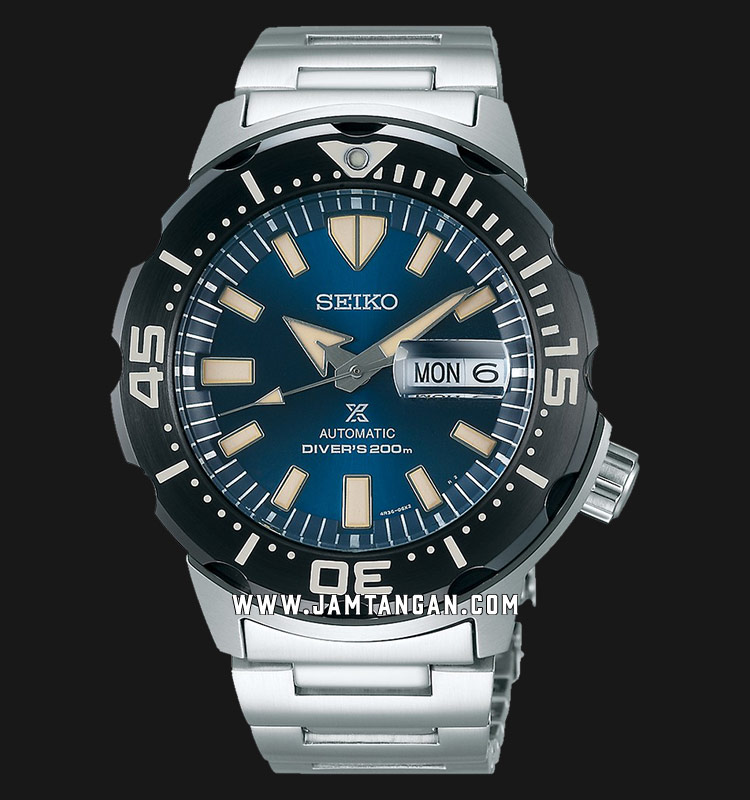 Seiko Prospex SRPD25K1 Monsters Baselworld 2019 Auto Divers 200M Stainless Steel Strap Machtwatch