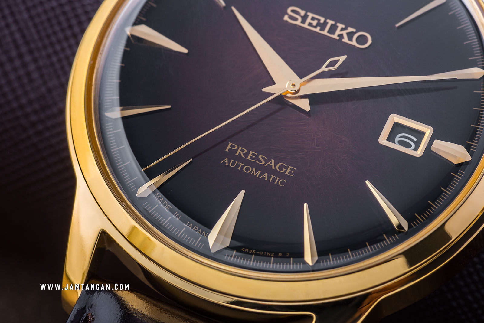 Seiko Presage SRPD36J1 Cocktail Limited Edition Automatic Brown Dial Brown Leather Strap Machtwatch