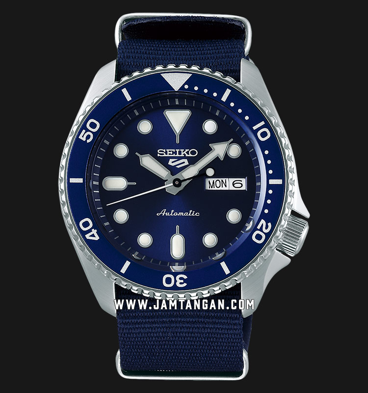 Seiko 5 Sports SRPD51K2 Automatic Blue Dial Blue Nylon Strap Machtwatch