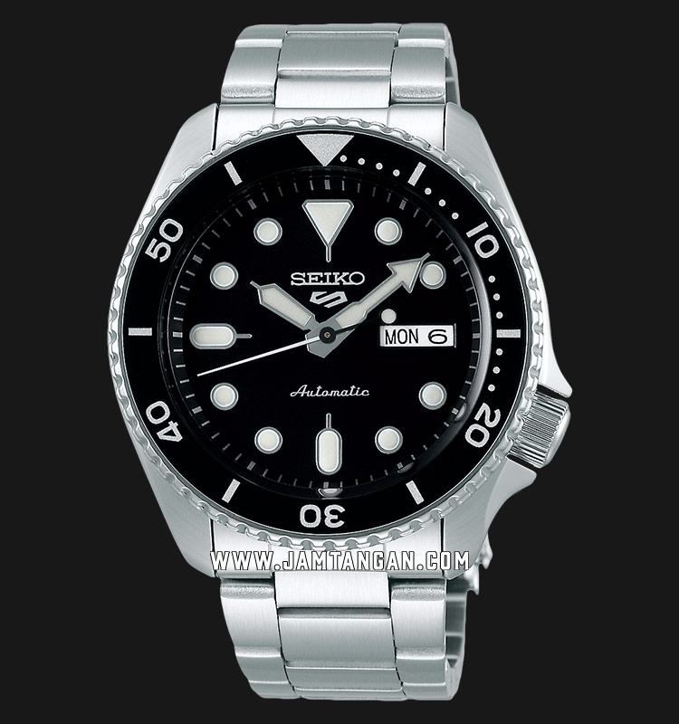 Seiko 5 Sports SRPD55K1 Automatic Black Dial Stainless Steel Strap Machtwatch