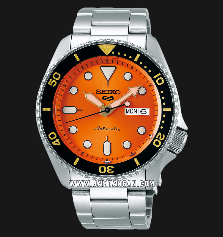 Seiko 5 Sports SRPD59K1 Automatic Orange Dial Stainless Steel Strap Machtwatch
