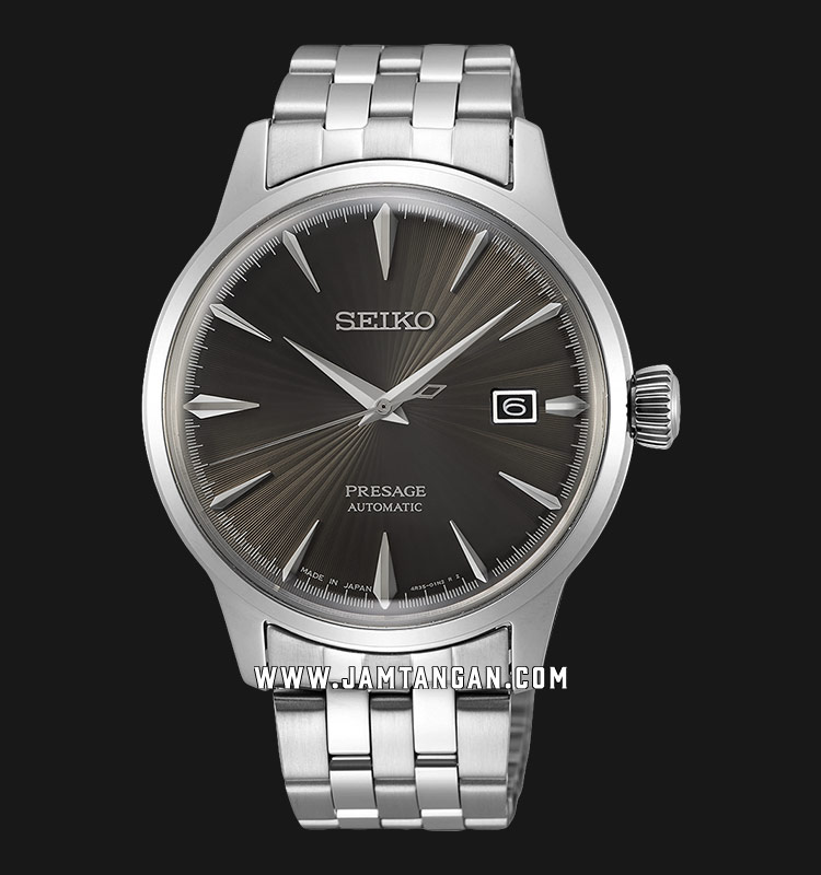 Seiko Presage SRPE17J1 Espresso Martini Automatic Gray Dial Stainless Steel Strap Machtwatch