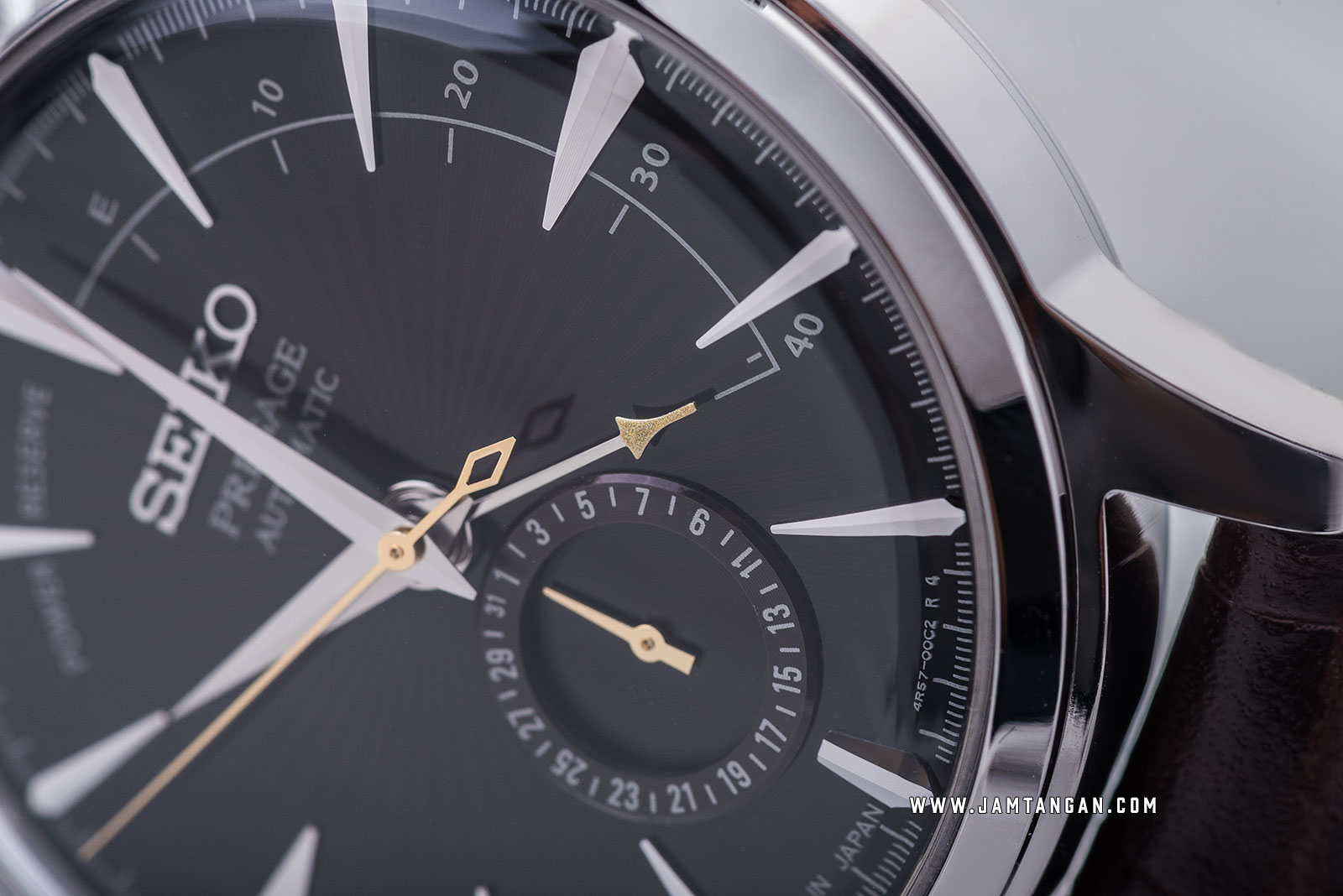 Seiko Presage SSA393J1 Cocktail Black Cat Martini Automatic Brown Dial Brown Leather Strap Machtwatch