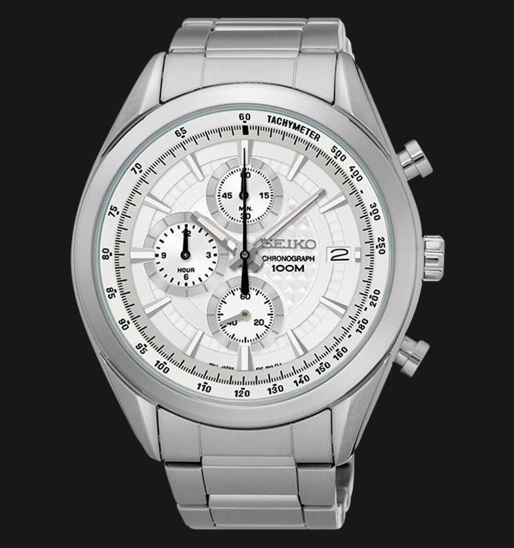 Seiko Chronograph SSB173P1 Silver Dial Silver Hands Stainless Steel Machtwatch