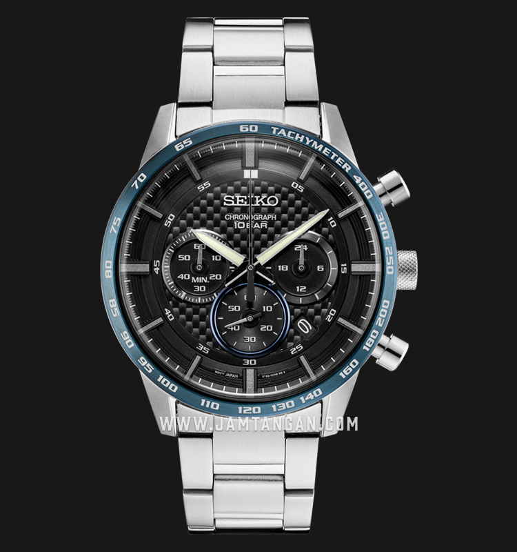 Seiko Chronograph SSB357P1 Neo Sport Black Dial Stainless Steel Strap Machtwatch
