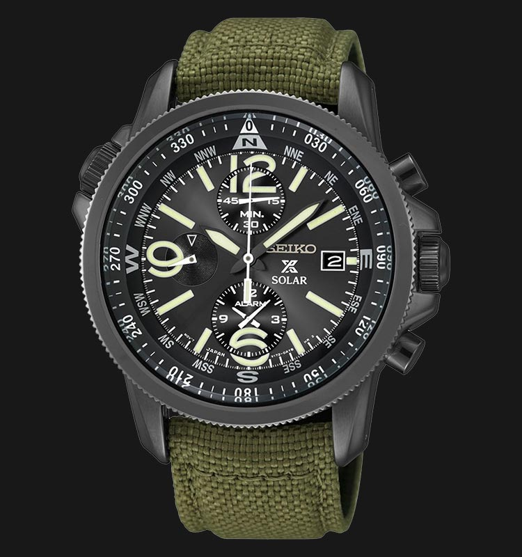 Seiko SSC295P1 Prospex Solar Military Chronograph Machtwatch