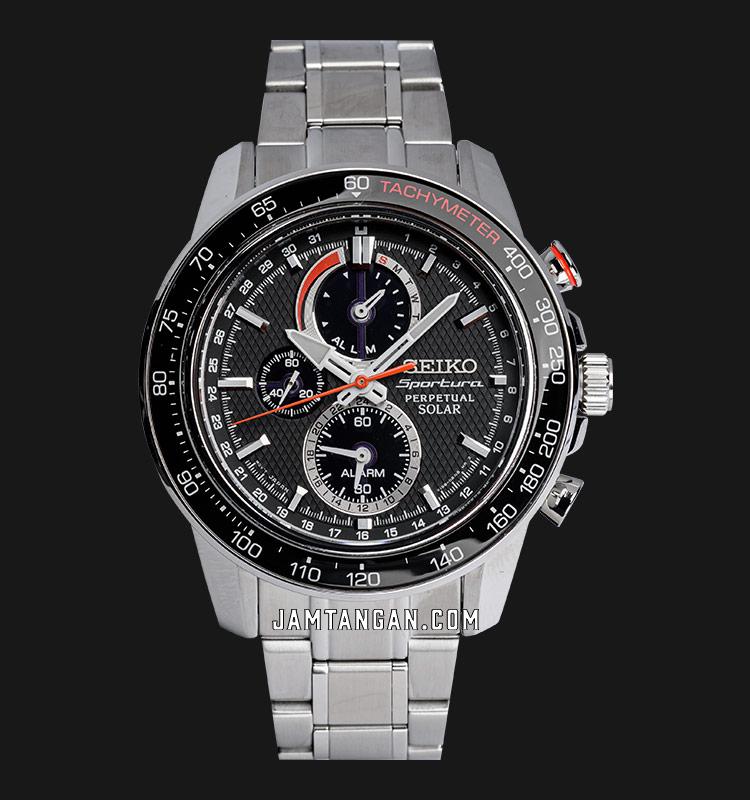 Seiko Sportura SSC357P1 Perpetual Solar Chronograph Stainless Steel Bracelet Machtwatch