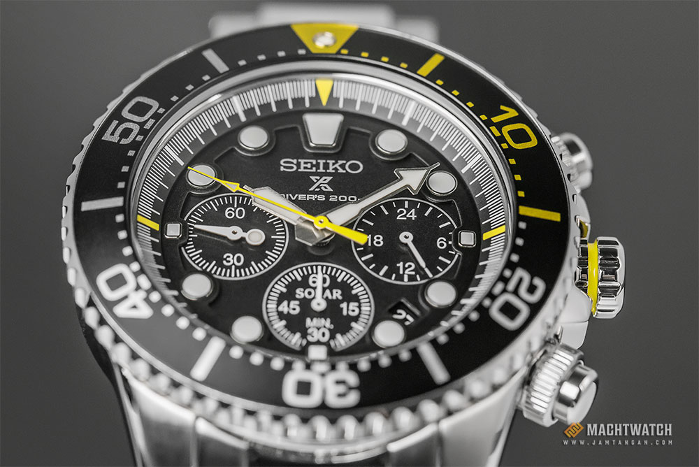 Seiko Prospex Sea SSC613P1 Divers 200M Chronograph Black Dial Stainless Steel Watch Machtwatch