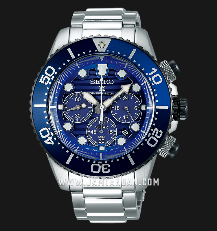 Seiko Prospex Solar Save The Ocean SSC675P1 Chrono Auto Divers 200M St. Steel Strap SPECIAL EDITION Machtwatch