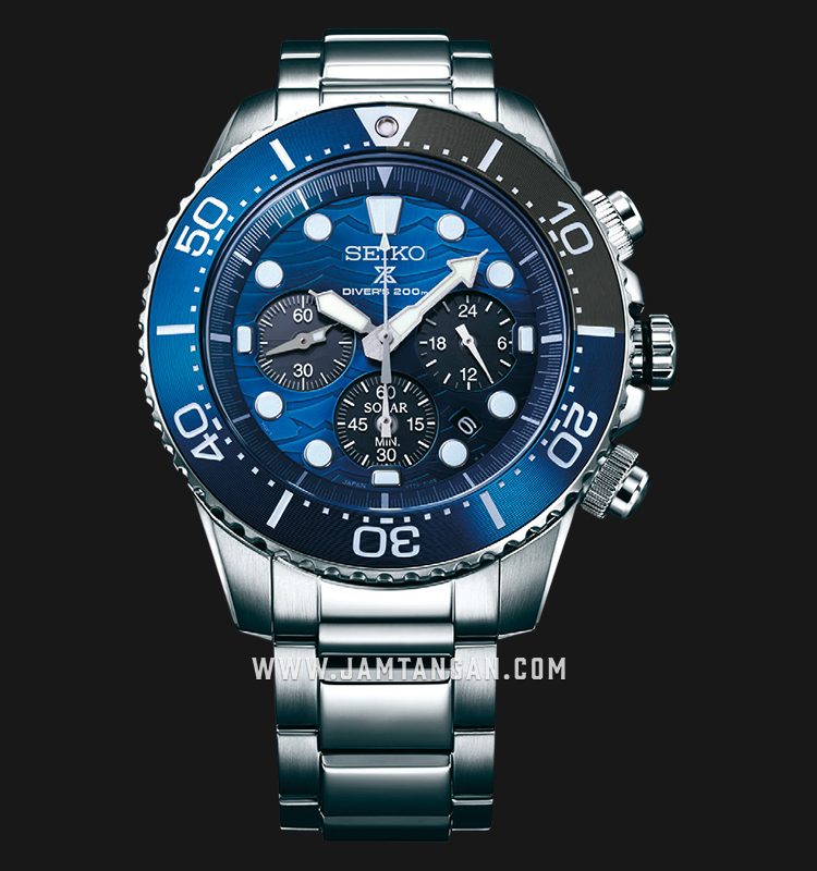 Seiko Prospex SSC741P1 Solar Save The Ocean Baselworld 2019 Auto Divers 200M Stainless Steel Strap Machtwatch
