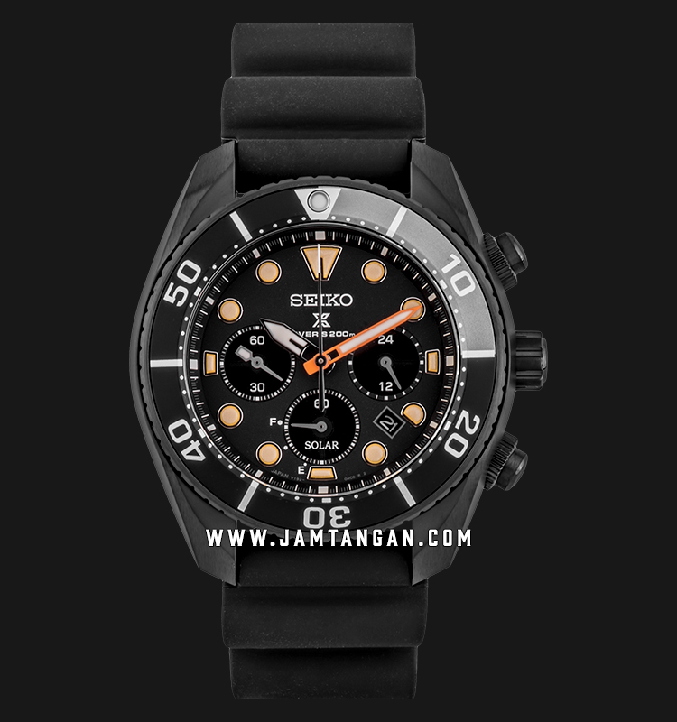 Seiko Prospex SSC761J1 Solar Chronograph Black Series Divers 200M Water Resistance LIMITED EDITION Machtwatch