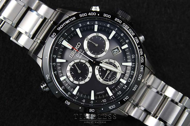 Seiko Astron SSE011J1 GPS Solar Chronograph 8X Series Stainless Steel Machtwatch
