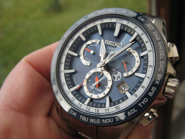 Seiko Astron SSE053J1 8X Dual Time GPS Solar Blue Dial Stainless Steel Machtwatch