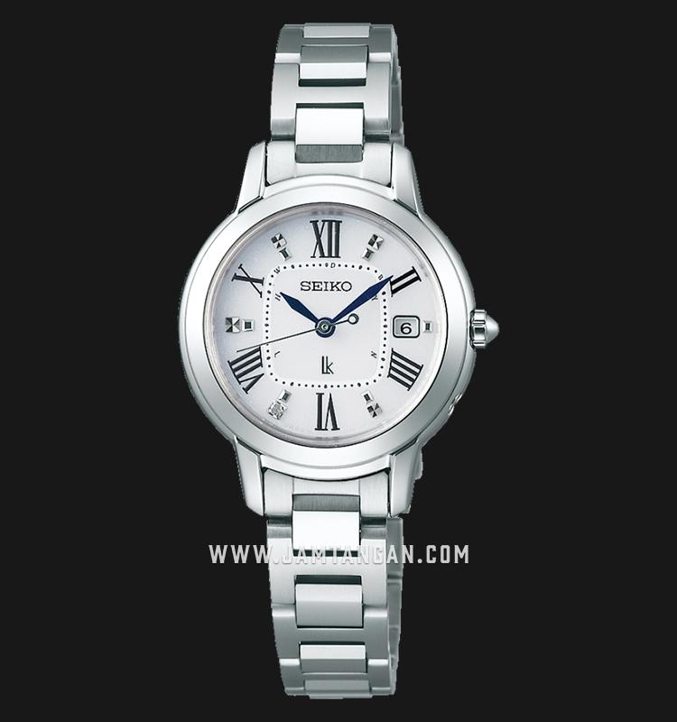 Seiko SSQW035 Lukia White Dial Titanium Strap Machtwatch