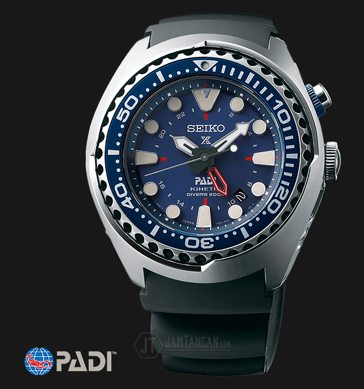 Seiko Prospex PADI SUN065P1 Kinetic GMT Divers 200M Special Edition Machtwatch