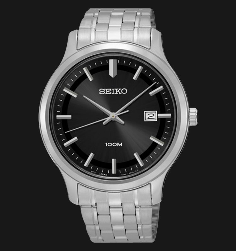 Seiko Classic SUR145P1 Black Dial Stainless Steel Machtwatch