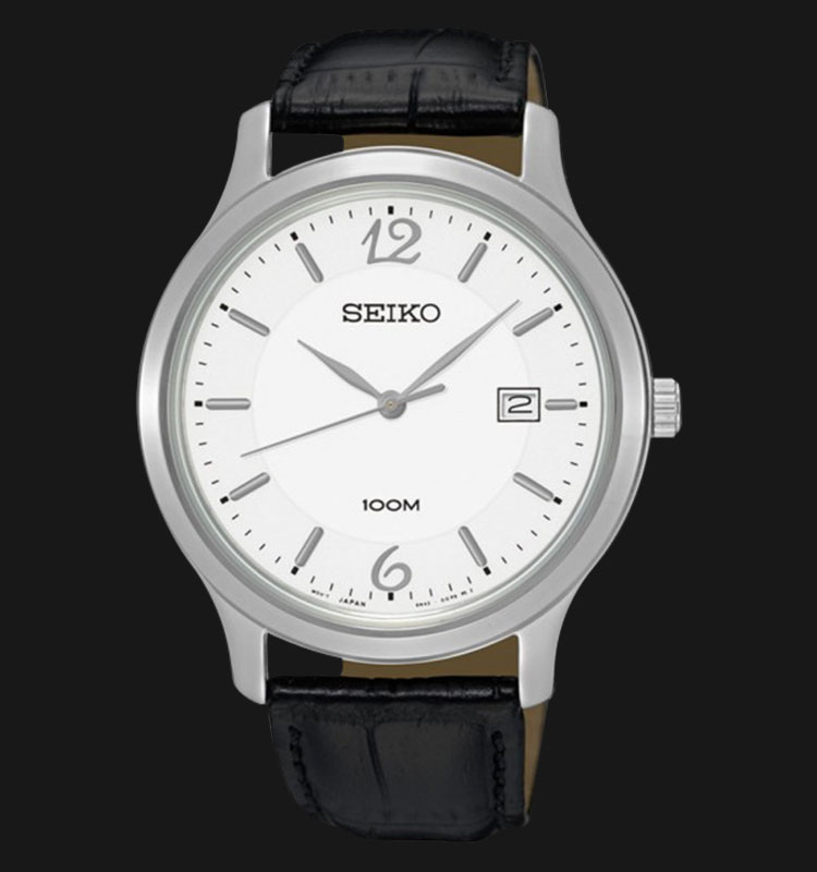 Seiko Classic SUR149P1 Silver Dial Black Leather Strap Machtwatch