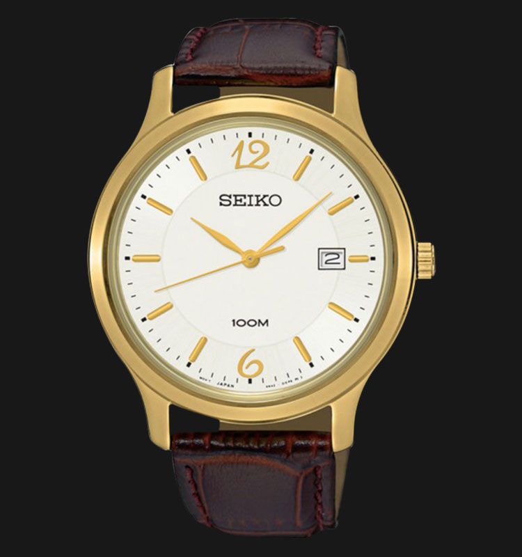Seiko Classic SUR150P1 Silver Dial Brown Leather Strap Machtwatch