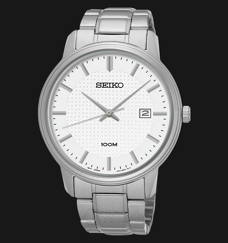 Seiko Classic SUR191P1 Silver Dial Date Display Stainless Steel Bracelet Machtwatch