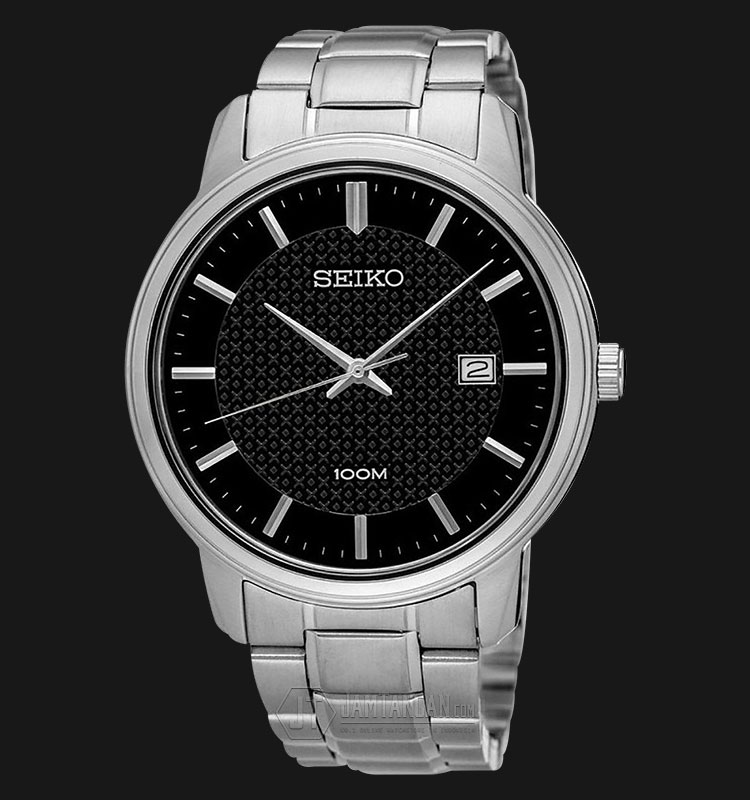 Seiko Classic SUR195P1 Black Dial Date Display Stainless Steel Bracelet Machtwatch