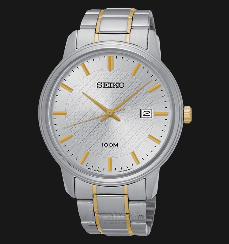 Seiko Classic SUR197P1 Silver Dial Date Display Two Tone Stainless Steel Machtwatch