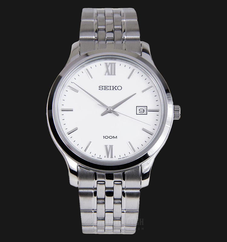 Seiko Neo Classic SUR217P1 Quartz White Dial Stainless Steel Strap Machtwatch