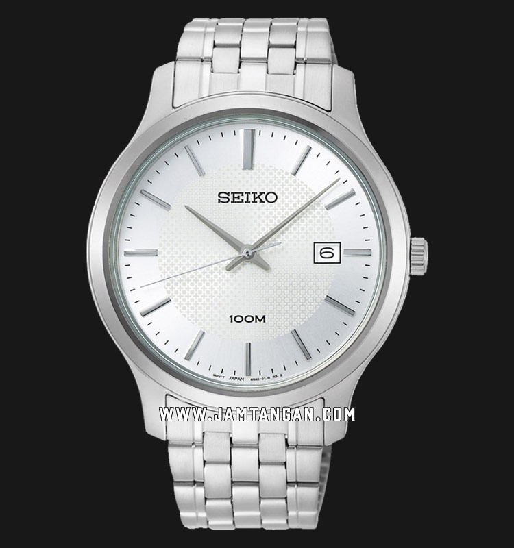 Seiko Neo SUR289P1 Classic Silver Dial Stainless Steel Strap Machtwatch