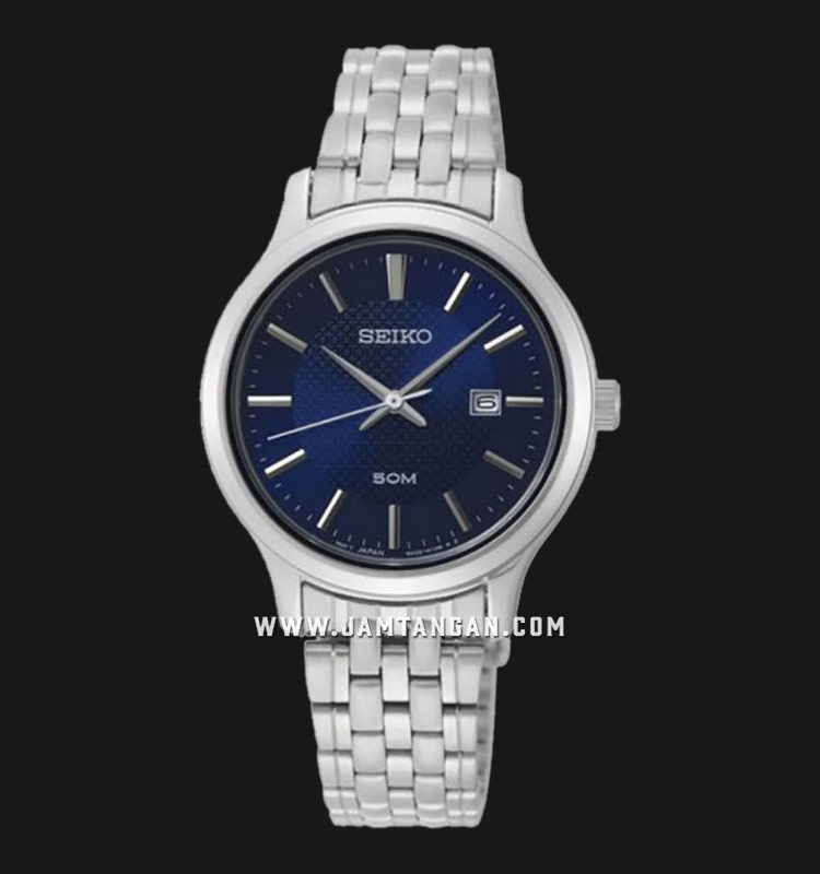 Seiko Neo SUR651P1 Classic Ladies Purple Dial Stainless Steel Strap Machtwatch