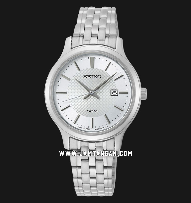 Seiko Neo SUR653P1 Classic Ladies White Dial Stainless Steel Strap Machtwatch