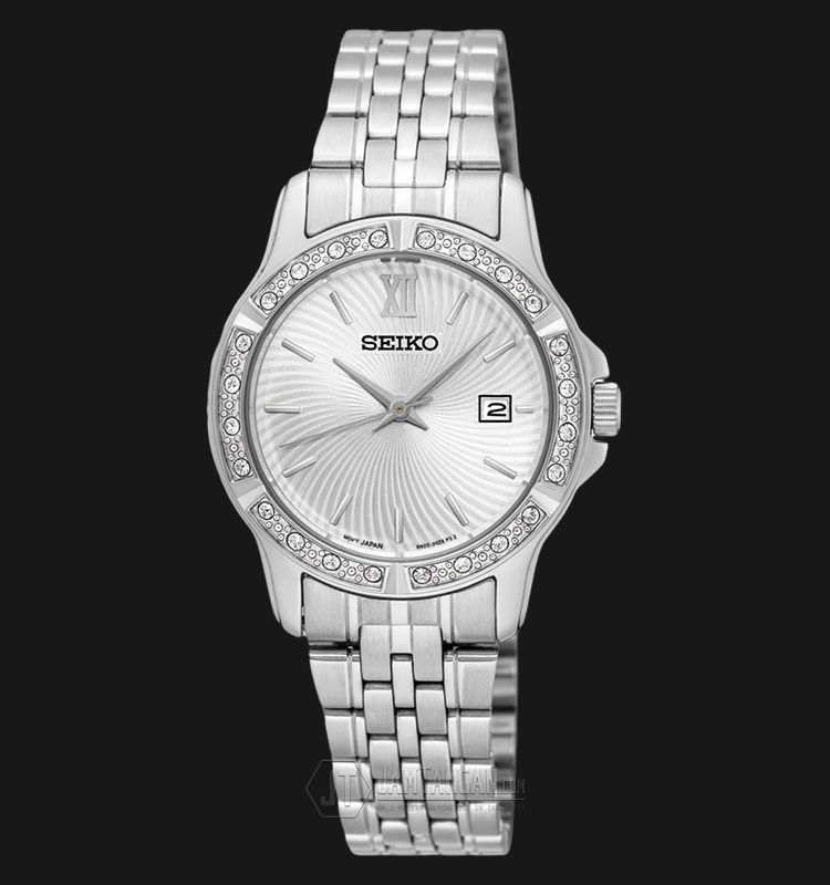 Seiko Classic SUR741P1 Silver Dial Stainless Steel Bracelet Machtwatch