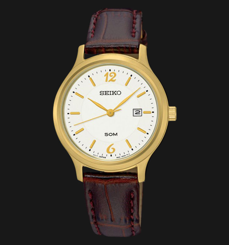 Seiko Classic SUR790P1 Silver Dial Brown Leather Strap Machtwatch